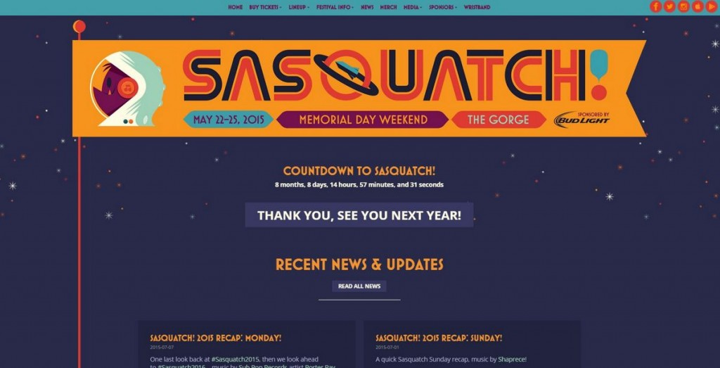 sasquatchfestival.com has cool website designs